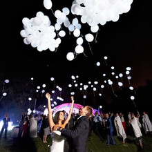 Hot 50pcs/lot 12inch White Led Flash Balloons Illuminated LED Balloon glow birthday party supplies Wedding Decoration wholesale