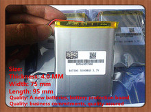 Free shipping polymer lithium battery 7,8,9 inch tablet PC ICOO 3.7V lithiumion 'With High Quality 407595 5500MAH tablet battery
