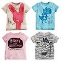 Los niños pequeños minions camiseta corta de verano tee ropa orgánica para niños toddler boutique ropa de bebé niños fireman number camiseta