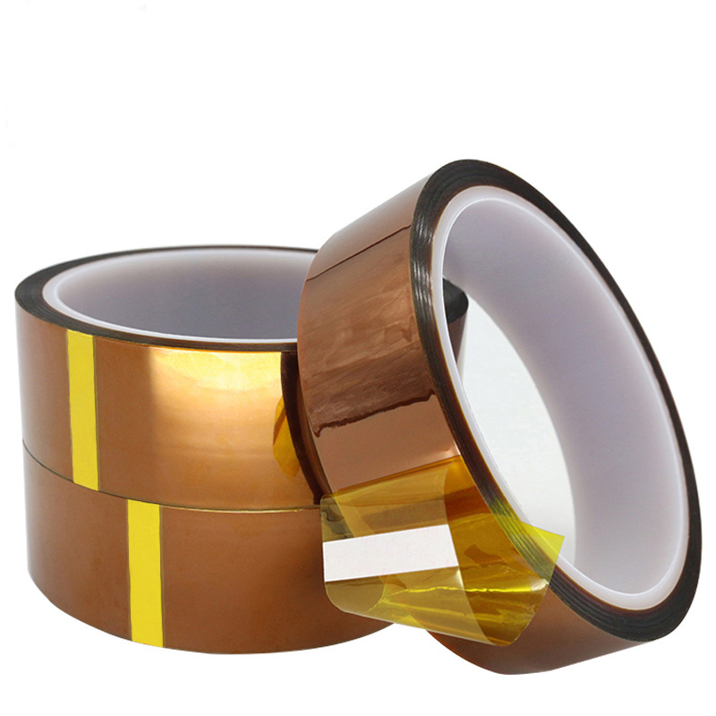 1 Roll Gold Finger High Temperature Tape Brown Circuit Board Battery Banding Soldering Polyimide Glue in Wall Stickers from Home Garden
