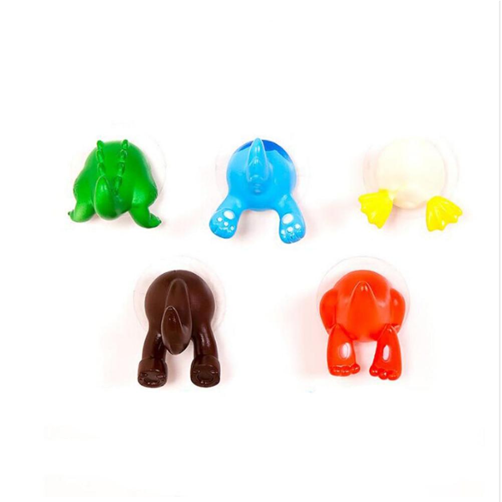 Hot Sale 1PC 6 Colors Cute Cartoon Animal Tail Sucker Suction Hook Baby Bathroom Towel Hanger Holder Wholesale