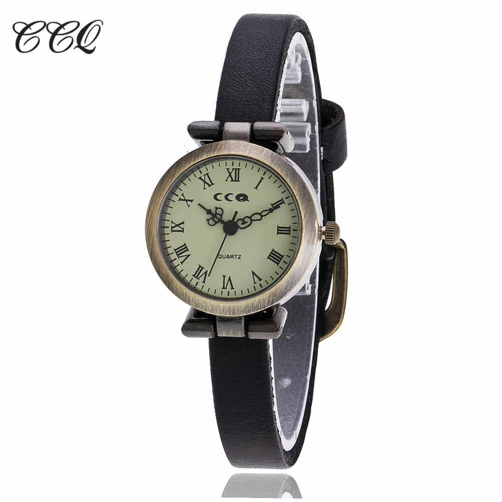 CCQ Brand Watch Women Watches relogio feminino 2017 Fashion Roma Vintage Leather Band Casual Quartz Wristwatches reloj mujer