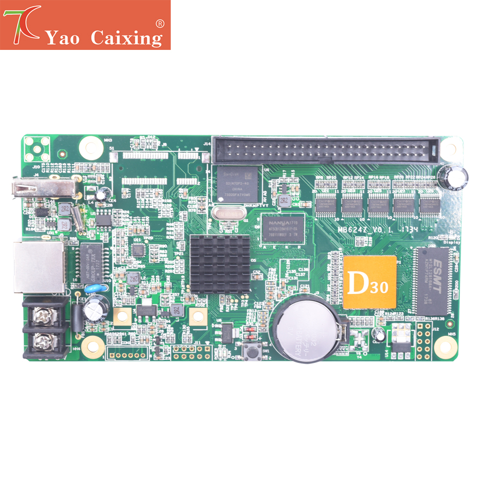 HD-D30/D35 controller with LAN/USB asynchronous <font><b>control</b></font> <font><b>card</b></font> p2 p2.5 p3 p4 p5 p6 p8 <font><b>p10</b></font> rgb full color dot matrix <font><b>led</b></font> screen image