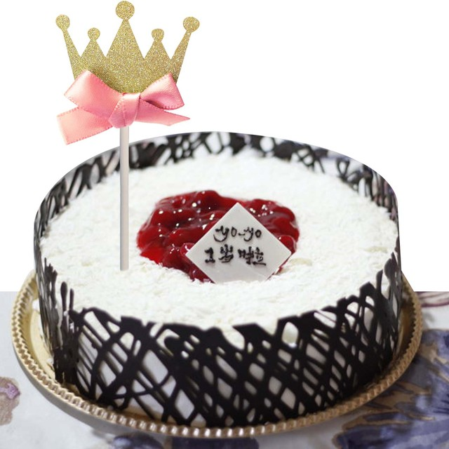 Behogar 10 pcs baby girls kids crown bowknot style cake topper behogar 10 pcs baby girls kids crown bowknot style cake topper birthday wedding cake topper cake junglespirit Image collections