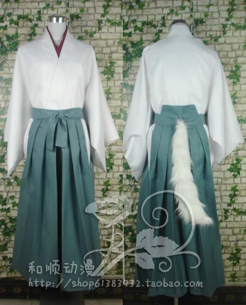 Anime Kamisama Love COSPLAY Tomoe COS Halloween Party Kendo suit kimono COS suit full ear tail