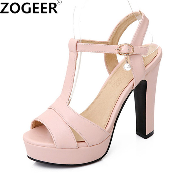 c38661d1a94d Plus Size 34-43 Hot 2019 Summer Women Sandals Fashion High Heels Sandal  Sexy Gladiator T-strap Platform Party Dress Shoes Woman