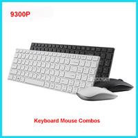 9300P 4.9mm Ultra Slim Portable Mute Wireless Keyboard and Mouse Combo 1600DPI ,Applicable to home, office, notebook Black/White