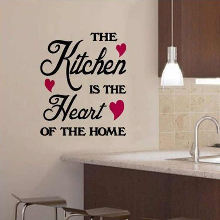 1pc The Kitchen Is Heart Of Home Quotation Pvc Wall Sticker Art Decor Decal 30 36cm Hg Ws 1533 In Stickers From Garden On