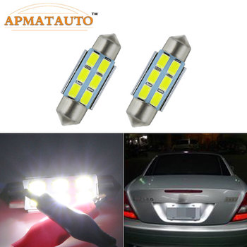 For Mercedes Benz E320 / 2005 C230 Kompressor/W203 Licese/Number Plate Light Bulb Canbus C5W Error Free 36mm White 12V image
