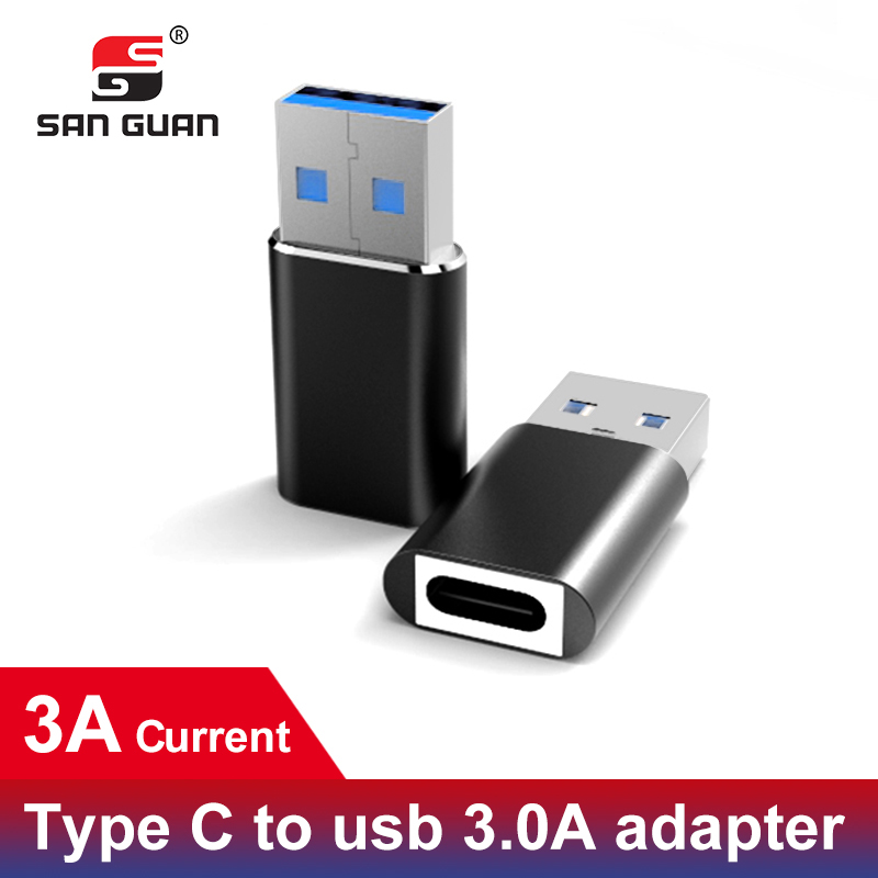 PD Type-C 3.1 Gen1 5GB 3A Adapter USB C Female To USB A Male Adapter Connect USBC-C For Macbook Google Sony HTC Oneplus Nokia
