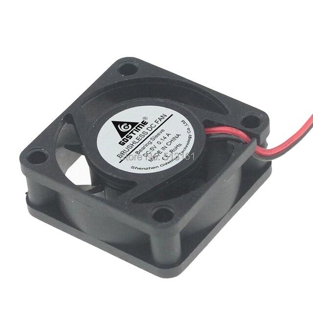 2 pièces ensemble Gdstime 4015 4 CM 40mm 5 V 2Pin 40x40x15mm silencieux Mini ventilateurs de refroidissement