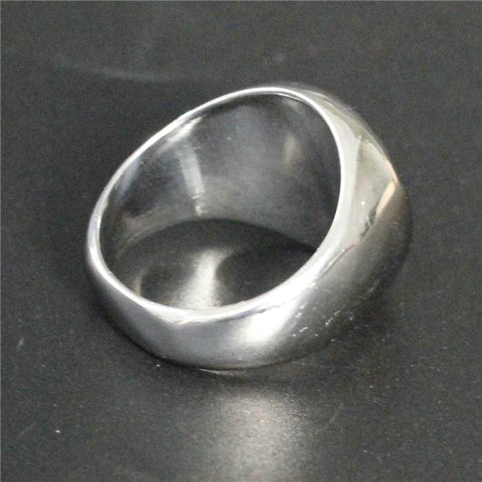 D rop s Hipบุคลิกภาพการออกแบบโนเบิลแหวนสแตนเลส316Lเครื่องประดับผู้หญิงบุรุษหนักขัดSpradeหัวใจแหวน