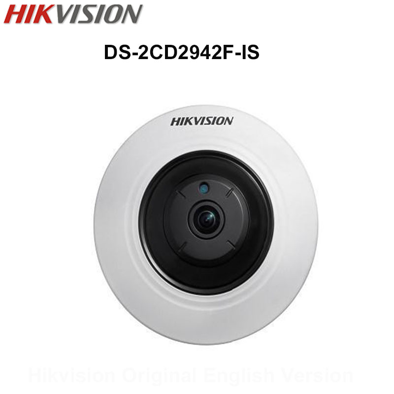In Stock Hikvison Original English Security Camera DS-2CD2942F-IS 4MP Compact Fisheye IP Camera POE Audio 8m IR CCTV Camera touchstone teacher s edition 4 with audio cd