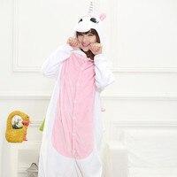 2017 NEW HOT Pink Unicorn Adult Pajamas Cosplay Cartoon Animal Onesie Sleepwear Christmas Halloween Costume Women