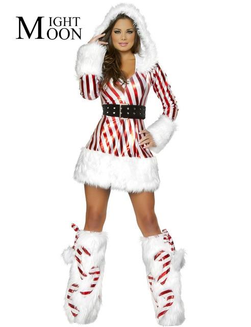 moonight 2018 new latest high quality hot sale snowman mini dress costume women white christmas costumes - White Christmas Costumes