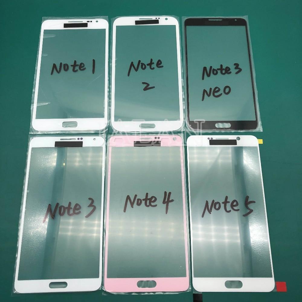 Jalan untuk SM Note 4 Edge Mini N910 N915 G850 Note 5 N920 Layar Sentuh Panel Retak Kaca Pengganti Perbaikan LCD depan Kaca