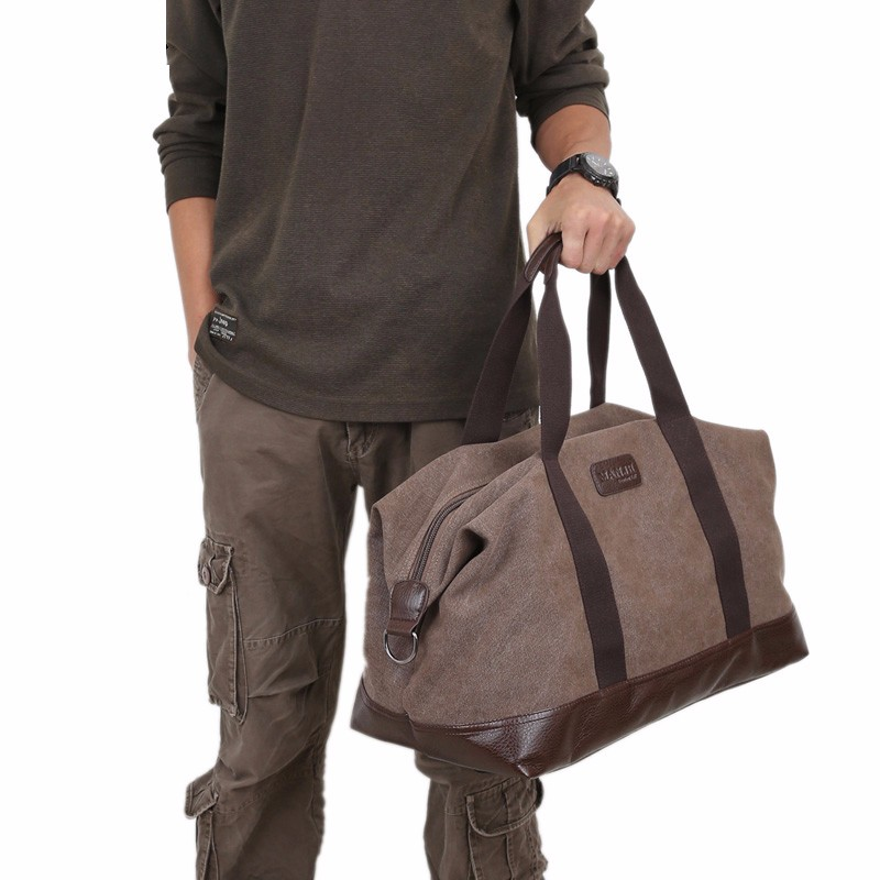 Hot Sales Large Capacity Canvas Travel Bags Men Portable Single Shoulder Bag storaging Ancient Ways Working Out The Package (3)
