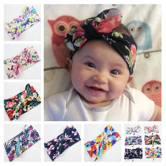Baby Boy Girl Handmade Headband Hair Accessories Newborn Infant Headwear  Colors Cool Flower Printing DIY Bowknot 1a33940ce5d
