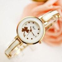 JHLF Lucky Cover School Girl Wrist Quartz Watches Wristwatches relojes mujer Bangle Fashion Women Bracelet Watch montre femme