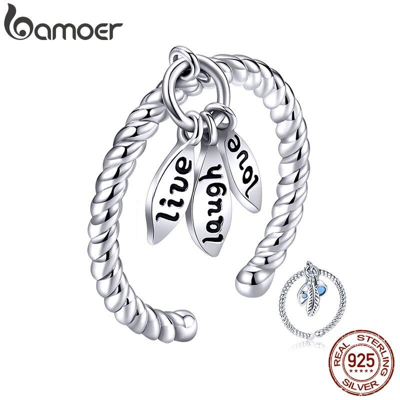 bamoer Boho Tiny Pendant Finger Ring for Women