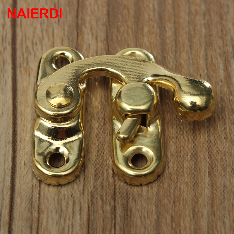 Home Improvement ... Hardware ... 32573665822 ... 5 ... 10PCS NAIERDI Small Antique Metal Lock Decorative Hasps Hook Gift Wooden Jewelry Box Padlock With Screws For Furniture Hardware ...