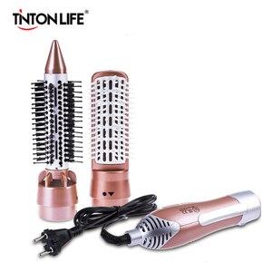 Image 1 - TINTON yaşam profesyonel saç kurutma makinesi tarak 2 in 1 çok fonksiyonlu şekillendirici alet takımı saç kurutma makinesi