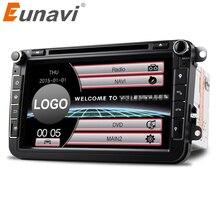 Eunavi 2Din 8 »автомобильный dvd-радиоплеер gps навигации для VW Passat CC Polo GOLF 5 6 блок EOS T5 Sharan Jetta Tiguan Бесплатная камеры