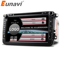 Eunavi 2Din 8'' Car DVD Radio Player GPS Navigation For VW Passat CC Polo GOLF 5 6 Touran EOS T5 Sharan Jetta Tiguan Free camera