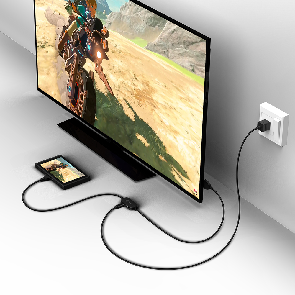 GameSir GTV120 20V 3A Mini 1080P HDMI Display Adapter and Converter Cable Best For Nintendo Switch