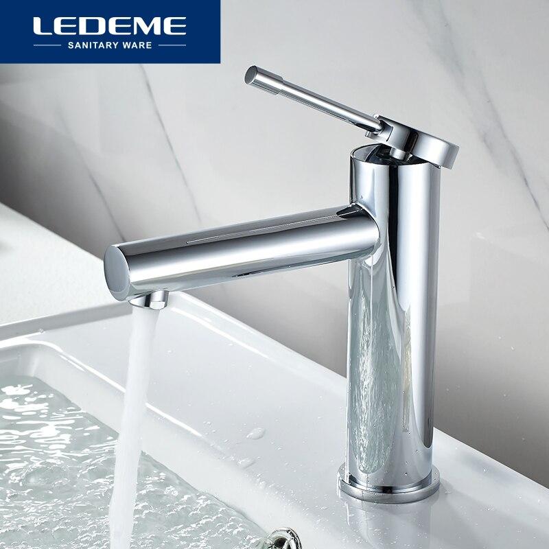 LEDEME salle de bain bassin robinets salle de bain mitigeur froid et chaud bassin robinet de bain d'eau robinet de bassin L1047