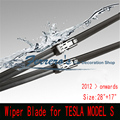 """Wiper Blade 28 """"+ 17"""" para TESLA MODEL S 2012-Onwards Feixe Frameless Pára Brisas Aero Plana Suave lâminas de lâmina de alta qualidade"""
