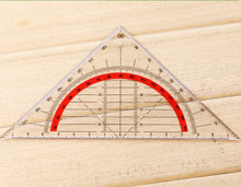 5pcs Students Stationery Office Multi-function Set Square Triangle Multifunctional Ruler Protractor Triangle Coordinate Rulers