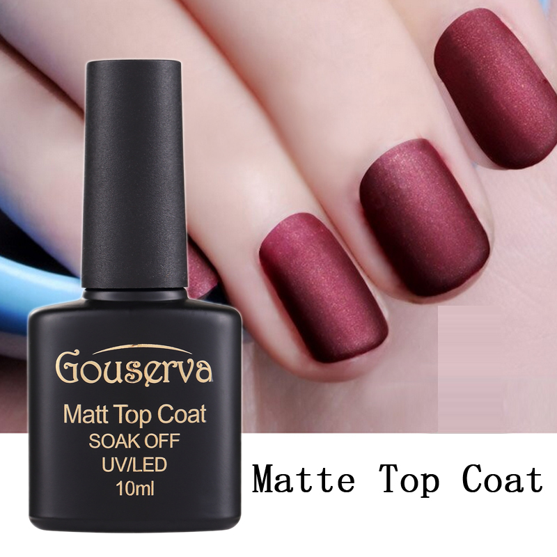 Best Nail Polish For Nail Art: Hot Sale 10ml Matt Varnish Matte Top Coat Nail Gel Polish