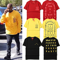 Kanye West I Feel Like Pablo Yeezy T-shirts Men Summer Fashion Hip Hop Cotton O-neck Short Sleeve Brand Clothing Yeezy T-shirts