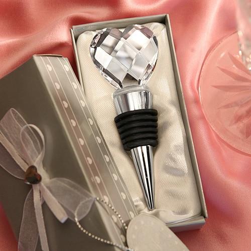 Un ensemble Cristal Diamant Bouchon de Vin Faveurs De Mariage Cadeaux De Mariage Pour Les Clients Bébé Douche Faveurs De Noël De Mariage Décoration De Table