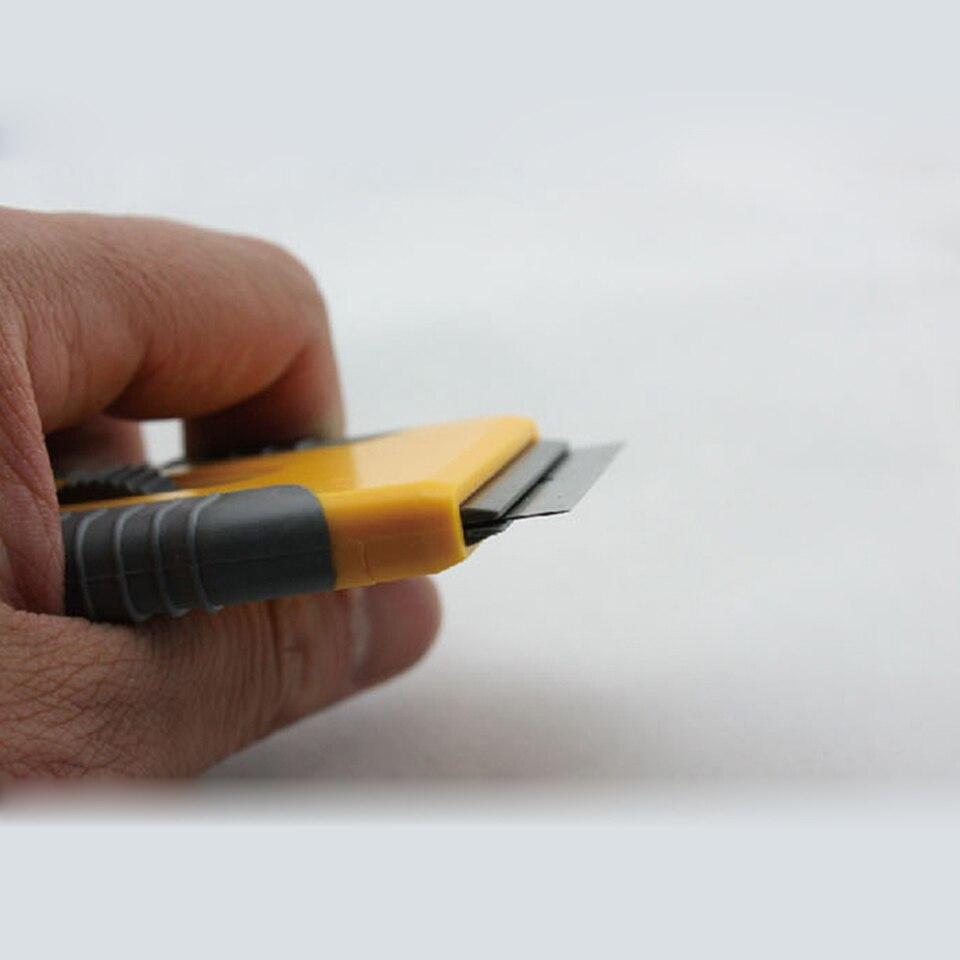Image 3 - Бесплатная доставка виниловый инструмент Желтый Мини бритва лопатка скребок с бритвенным лезвием для удаления Gule MO 89 оптовая продажа-in Наклейки на автомобиль from Автомобили и мотоциклы
