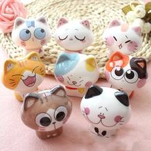 Cute Cartoon Lucky Cats Car Ornaments Creative Home Desk Decor Decoration Ceramics Crafts Figurines Miniatures Kid Birthday