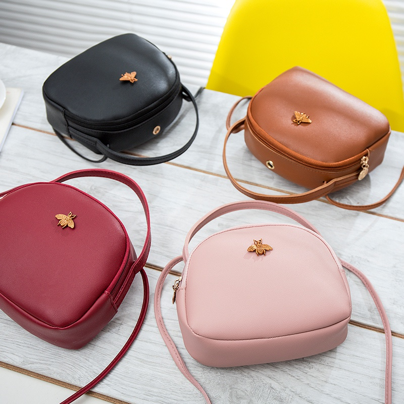 Fashion 2019 Women Girls New Casual Hot Sales Color Female Bag Portable Small Bee Purse Crossbody Bag Mobile Phone Bag