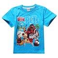 HOT 2017 Niños camiseta de La Vida Secreta de Mascotas Ropa de la Historieta de Los Niños T-Shirt Para Niños Muchachas de Los Cabritos Tops traje