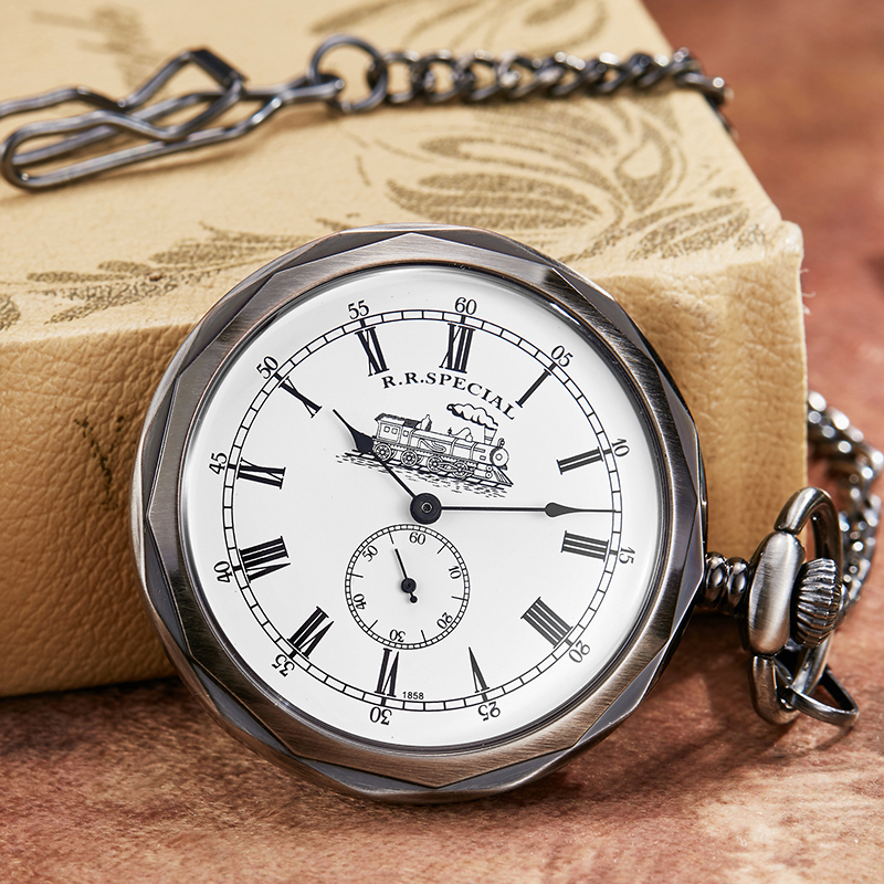 Unique Mechanical Pocket Watch Men Women Special Design Watch Fob Chain Necklace Pendants Hand Wind Steampunk Vintage Clock