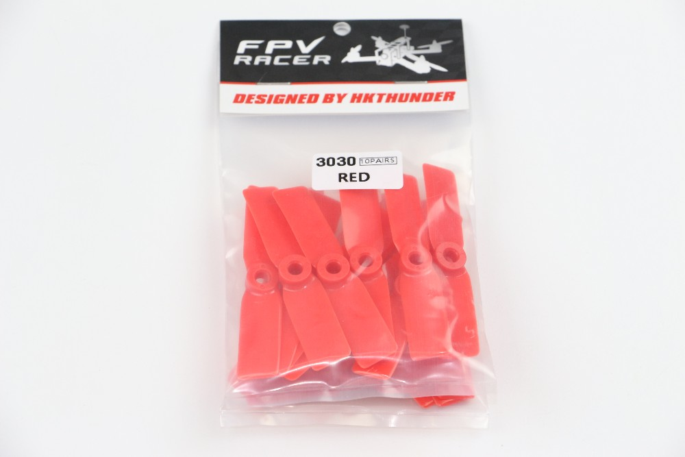 F19458 10Pairs 3030 Props Propellers 3 CW CCW Black / Red For DIY 130 150 Racing Quadcopter Mini Drones