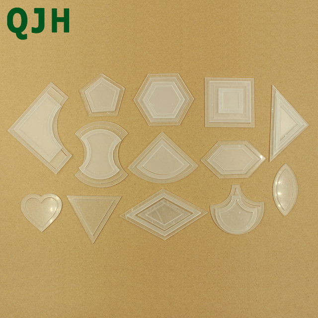54 pcs/bag Transparent Plastic Patchwork Template&Quilt Templates Handmade DIY Sewing Craft Accessories Tools Patchwork Ruler