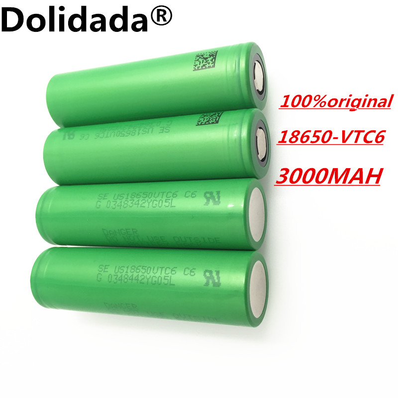4 pcs 100 original 3 7 v 3000 mah li ion rechargeable 18650 battery akku to us18650vtc6 vtc6. Black Bedroom Furniture Sets. Home Design Ideas