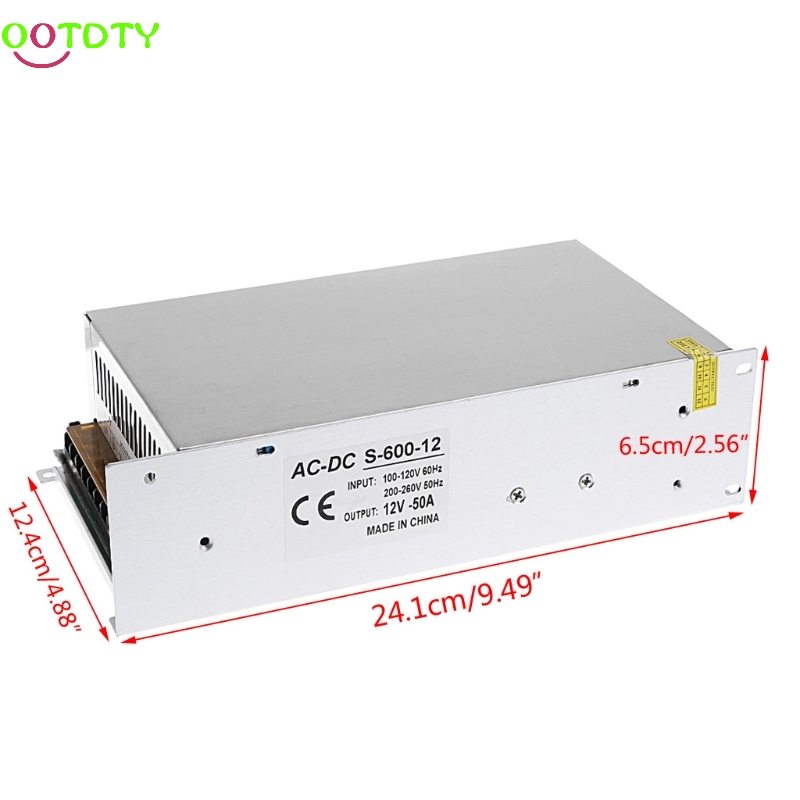 AC 100-260V To DC 12V 50A 600W Switch Power Supply Driver Adapter LED Strip Light  828 Promotion power supply 24v 800w dc power adapter ac110 220v non waterproof led driver 33a ups for strip lamps wholesale 1pcs