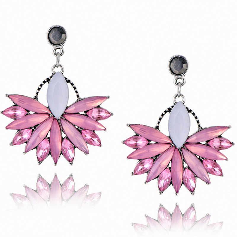 Hồng pha lê earring stud thời trang hot bán phụ nữ tinh hoa Earrings tuyên bố vintage cho phụ nữ jewelry bijoux e0226
