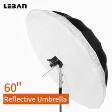 """Godox Studio Photogrphy Pro 16-rib, 6"""" черный и серебряный отражающий параболический светильник ing светильник зонтик с большой крышкой рассеивателя"""