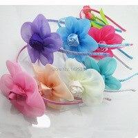 Rose Flower Spell Baby Hairband Chiffon Flowers Children Hair Accessories Cute Hair Clasp Baby Girls Headband