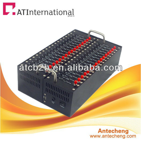 Cheap price quad band 850/900/1800/1900 32 port modem pool, bulk sms sending device 32 port sms modem pool