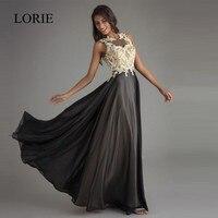 LORIE Party Evening Dress Long Formal 2018 Robe De Soiree Backless Elegant Women Lace Prom Dresses Black Evening Gowns Plus Size