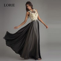 LORIE Party Evening Dress Long Formal 2018 Robe De Soiree Backless Elegant Women Lace Prom Dresses Black Evening Gowns Plus Size